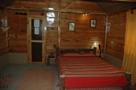 Log cabin interior at MQC
