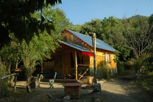 Mountain Quail Camp log cabin